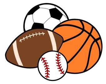 sports balls etsy rh etsy com all sports balls clipart sports balls clipart images