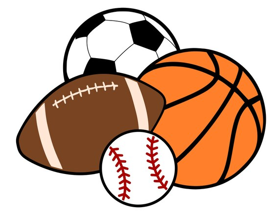 sports balls basketball soccer football baseball svg rh etsy com sports balls clipart images sports balls clip art free