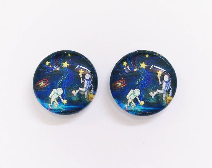 The 'Space Invaders' Glass Earring Studs