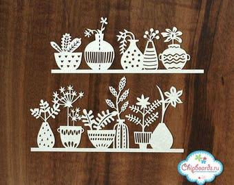 Chipboard for scrapbooking
