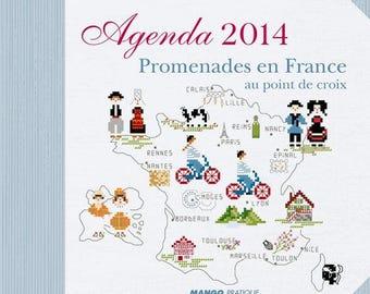 Book calendar 2014 - Cross-stitch - Véronique Enginger France rides