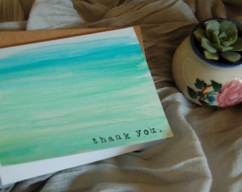 Thank You - Watercolor Card