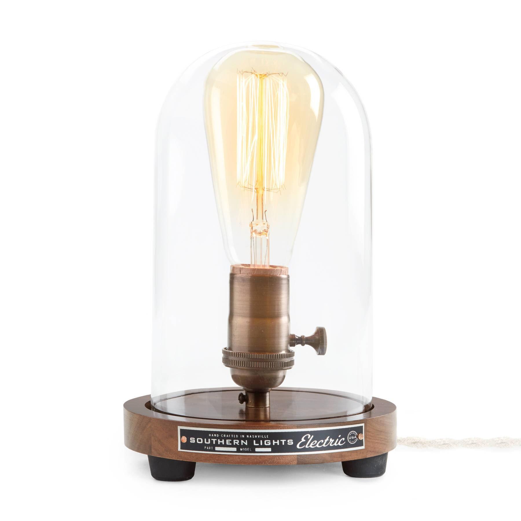The Original Edison Bell Jar Table Lamp Dome lamp
