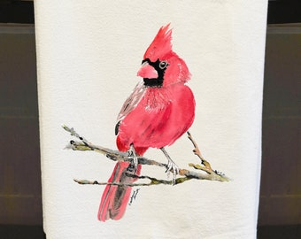 Cardinals, Tea Towels, Flour Sack Towels, Mothers Day Gifts, Gifts under 20, Oxford MS, Ole Miss, kitchen towels, redbirds, Bird art, gifts
