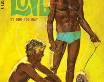 Brothers in Love - 10 x 17 Giclée Canvas Print of Vintage Pulp Paperback
