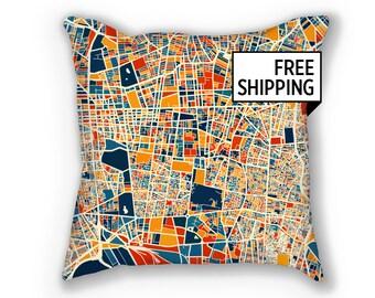 Tehran Map Pillow 18x18