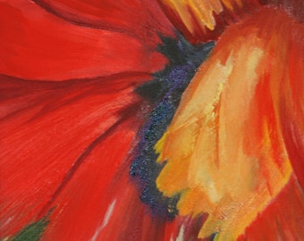 Poppy Painting,  11 x 14 in. Original Oil and canvas prints, see similar items in my shop or go to www.barbbrownsart.com