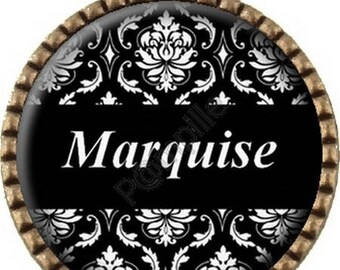 Bronze pendant - Marquise - (542) Cabochon