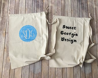 Customized Laundry Bag/Tote! Monogrammed, College, Laundry, Pineapple, Dorm