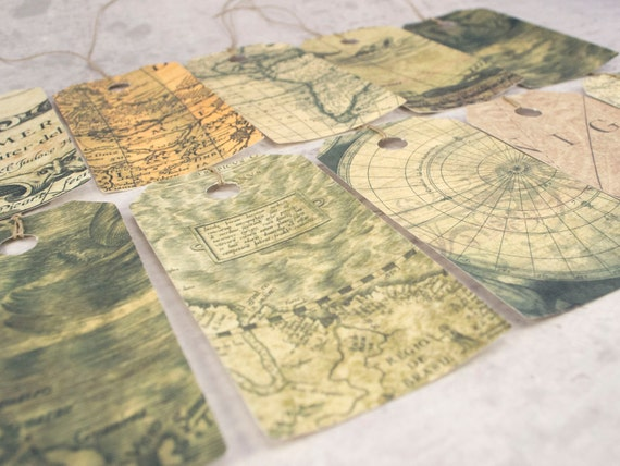 Map gift tags set vintage inspired map hang tags travel gift map gift tags set vintage inspired map hang tags travel gift vintage world map teacher appreciation gift vintage worldmap from lindedesigns on etsy gumiabroncs Gallery