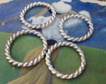 Sterling Silver  Twisted Stack Rings