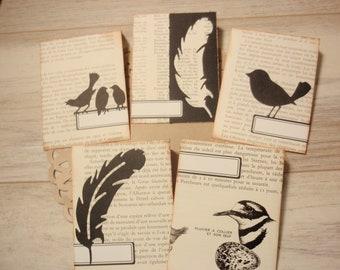 Envelopes Handmade Birds Set 5