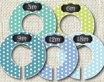 Baby Closet Dividers - The Blues Polka Dots