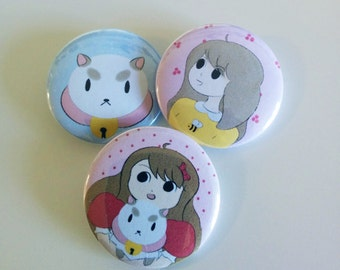 Bee and Puppycat Buttons