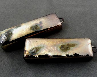 Urban Industrial Tribal Boho Raku Earrings