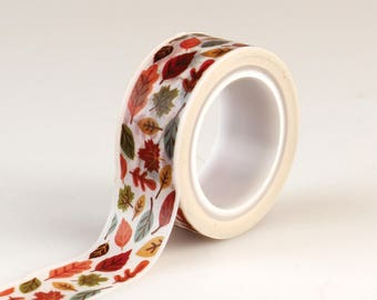Echo Park Paper Co. Decorative Tape - Multi Colored Leaves