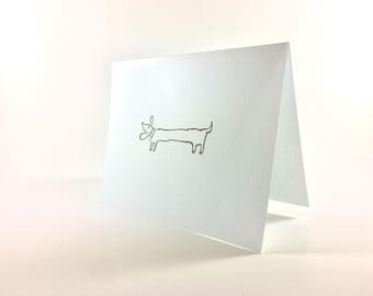 Dacshund Greeting Card