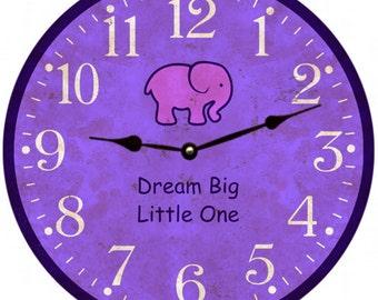 Baby Girl Nursery Clock