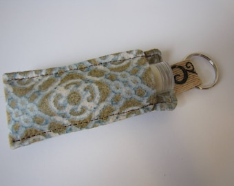 chapstick pouch/chapstick holder/keyring pouch