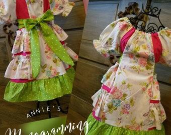 Peasant ruffle dress