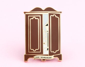 Narnia Enamel Pin   The Lion, The Witch and the Wardrobe, pin, Narnia pin, book pin, Book Nooks pin, book enamel pin, book lovers