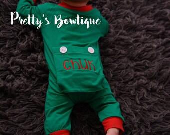 Lil' Long Johns Pajamas: Christmas Pajamas - Baby Pajamas - Christmas Jammies- Family Christmas Pajamas - Butt Flap Pajamas- 3M thru Adult