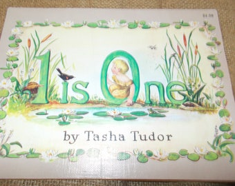 "Vintage childrens book 1956 ""1 is one"""" by tasha tudor"