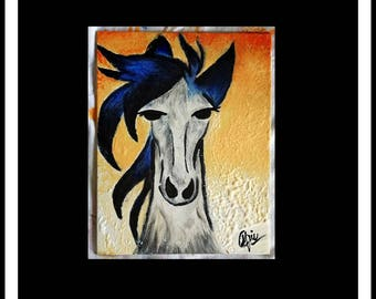 Horse Painting acrylic