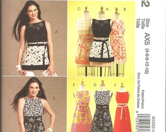 McCalls 5882 uncut size 4 - 12 womans summer dress or blouse