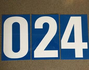 Metal Gas Station Number Set