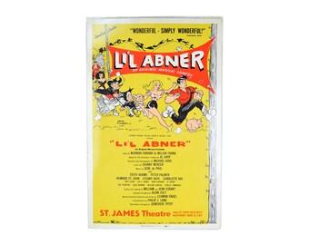 1956 LI'L ABNER Broadway musical Window Card Poster cartoon art Al Capp