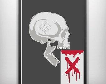 American history X minimalist movie poster