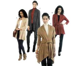 Women's Cardigan Jacket Sewing Pattern by Nancy Zieman, Misses Large 16-18 / Plus Size XL 20-22, XXL 24-26 UNCUT McCall's M6408