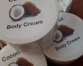 COCONUT BODY CREAM/ All Natural /Deeply Hydrating/Ultra Rich/ Men's/ Ladies Body Care