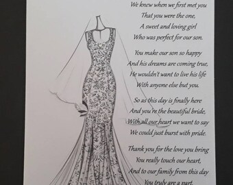 Handmade Personalised A5 Card To A New Daughter in Law Wedding Card Hand Drawn Design