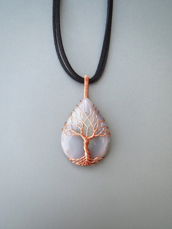 Tree Of Life Necklace Wire Wrapped Necklace Tree Of Life