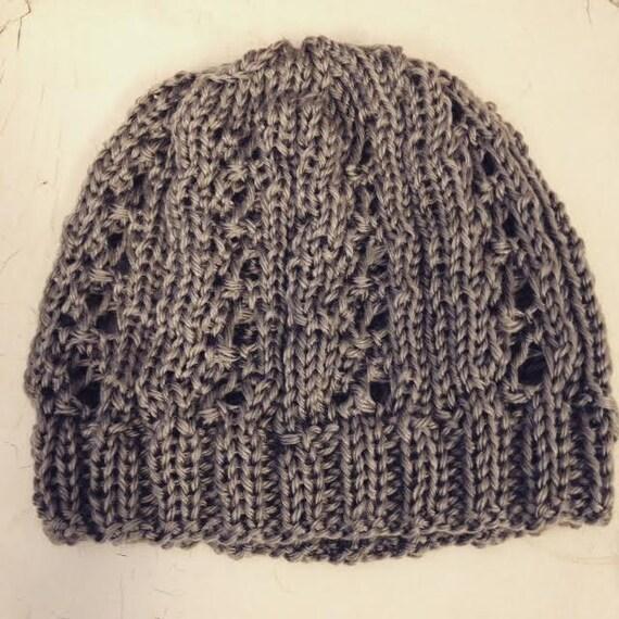 Clover Leaf Eyelet Lace Hat Knitting PATTERN