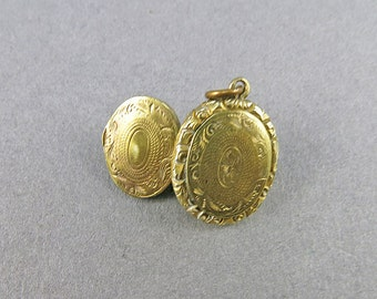Antique Gold Filled Locket Pendant Picture Locket Victorian Jewelry Antique Collectibles