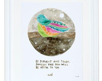 Être Patient et dur Ovide Art Print