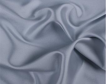 Sky Blue Silk/Wool Gab, Fabric By The Yard