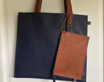 Dark blue Flat Bag