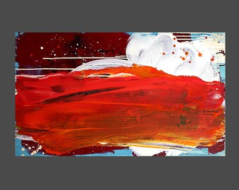 Abstract painting Pictures Orange red