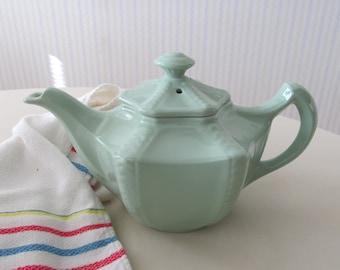 Vintage Hall Celadon Green Teapot