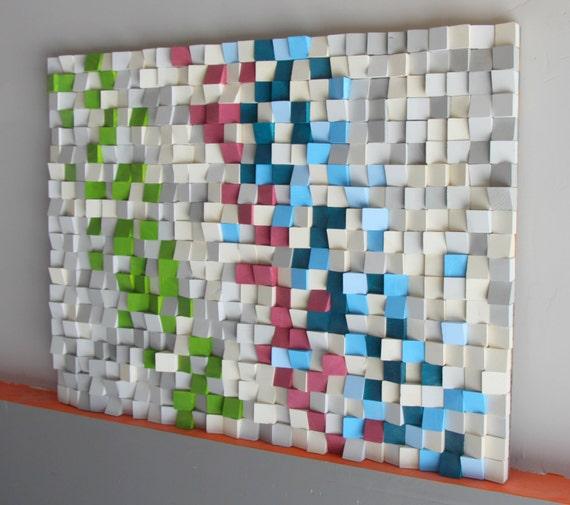 holz wand kunst altholz holz kunst mosaik. Black Bedroom Furniture Sets. Home Design Ideas