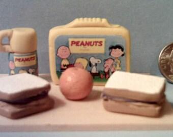 Barbie Sized Vintage Peanuts & Friends Lunch Box Set