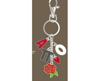 Alpha Omicron Pi Keychain / AOPi Keychain / Big Little Gift / Sorority Jewelry /AOPi Gifts