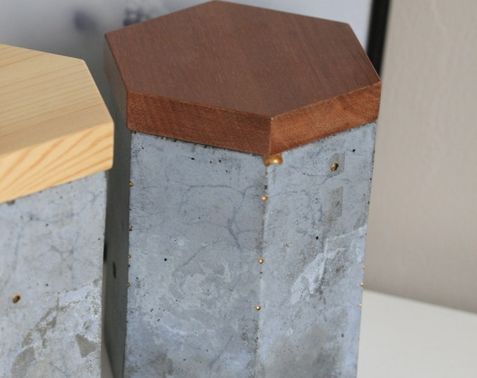 Concrete Container with Lid | Concrete Planter | Concrete Homeware | Urban | Industrial