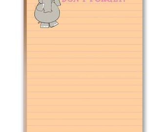Elephant Don't Forget, Do You? - 2 Cute Note Pads - 35004