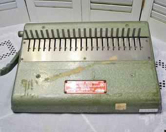 Vintage GBC Binding Machine Manual Office Equipment Spiral Notebook Binder Industrial Photo Movie Prop PanchosPorch
