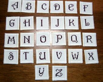 Cross Stitch Monogram Scrapbooking Embellishment